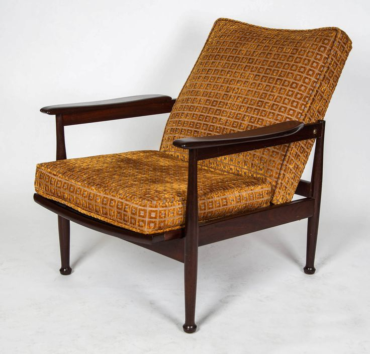 A 1960u0027s Teak Framed Guy Rogers Armchair With An Adjustable Seat Mechanism,  Newly Recovered In