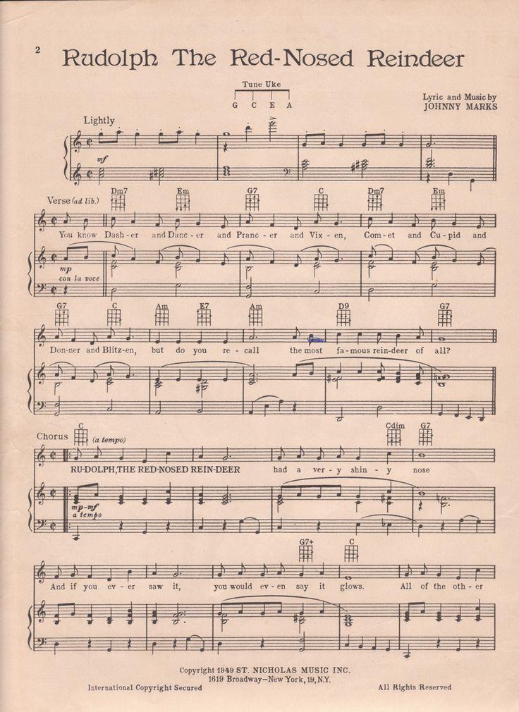 Rudolph sheet music