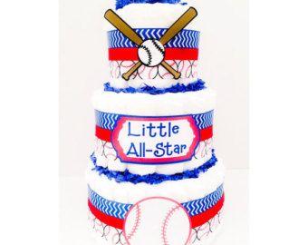 DETROIT TIGERS BASEBALL Diaper Cake Sports Diaper Cake Tigers