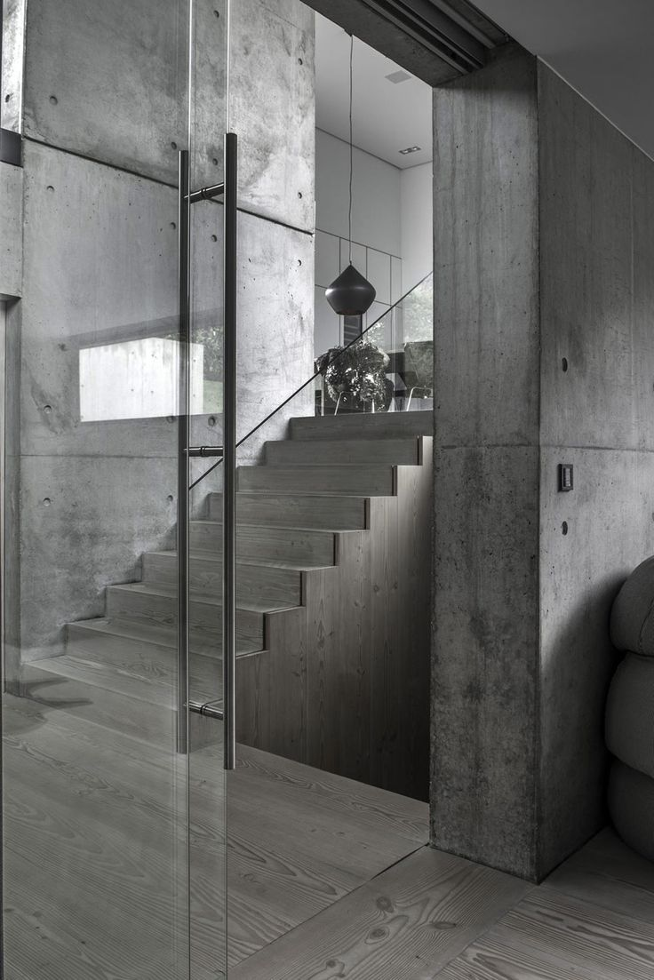 Modern Concrete House With Glass Walls: 17+ Best Ideas About Concrete Houses On Pinterest