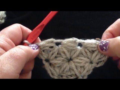 Deel 1 - Wendy's jasmijn vanuit de punt gehaakt - crochet jasmine stitch tutorial - YouTube