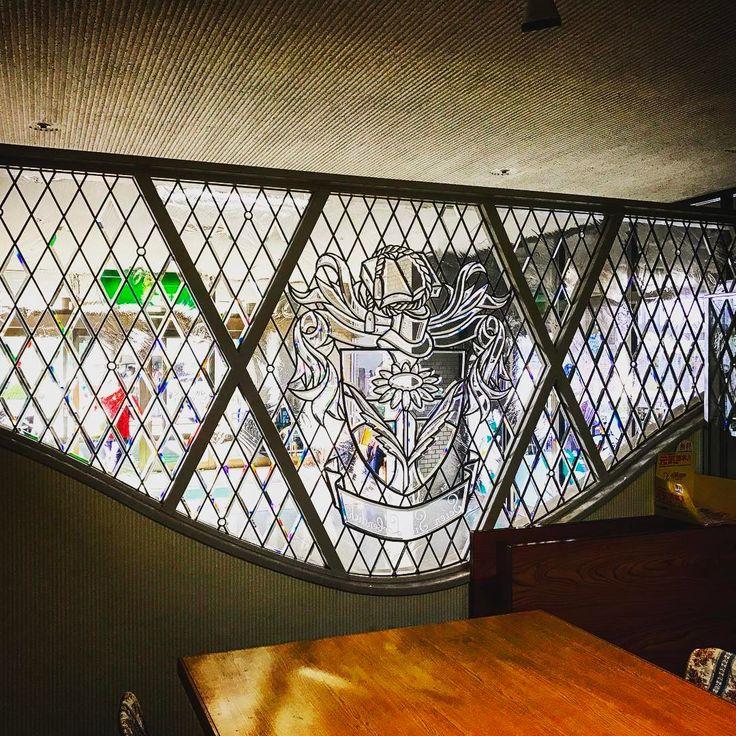 めずらしい面取りガラスの作品  #stainedglass #八千代 #yachiyo #セントマーガレット病院