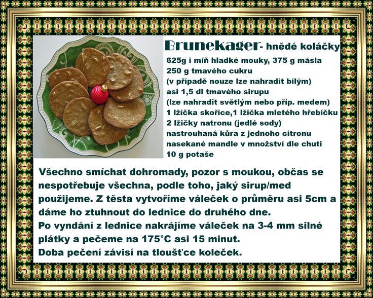 Brunekager - Hnědé koláčky Dánské cukroví