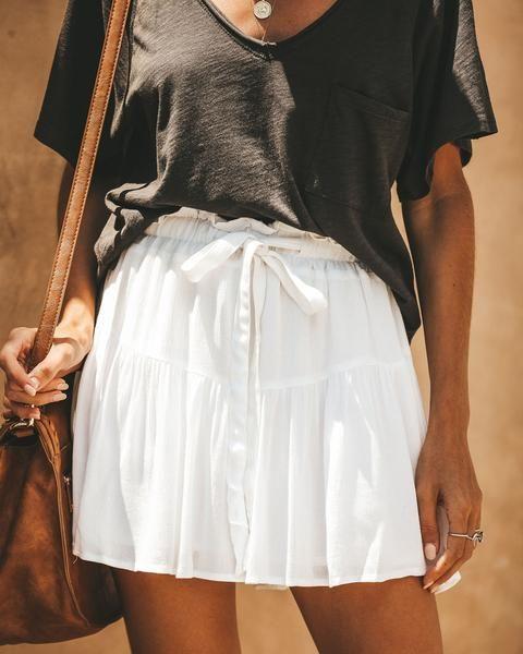 ce40e74c36 Brave Spirit Adjustable Flutter Skirt - White in 2019 | New | White ...