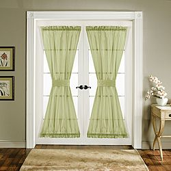 @Overstock - Give your double doors or French doors a facelift with the addition of these polyester door panels. These rod-pocket sheer door panels come with matching tie-backs and will lend a tailored, finished look to any door while adding a touch of privacy.http://www.overstock.com/Home-Garden/Lush-Decor-Green-72-inch-Sonora-Door-Panels-Set-of-2/6362159/product.html?CID=214117 $32.49