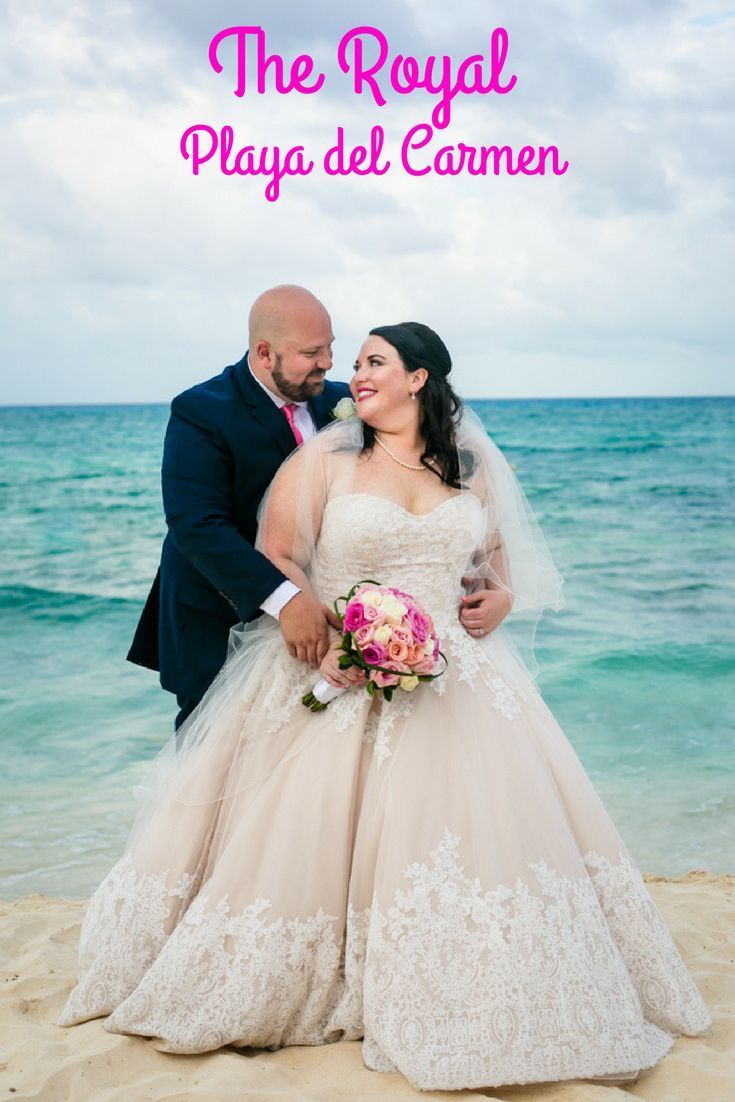 Get married right in the heart of Playa del Carmen, Mexico! (Wedding Photography by Fun In The Sun Weddings) https://funinthesunweddings.com/wedding-stories/caroline-hayden-beach-wedding-the-royal-playa-del-carmen/