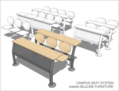 Sketchup Free 3d Model Campus Seat System