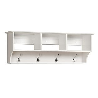 Prepac -White Entryway Cubbie Shelf with little bowls for each of us (my keys, Omars badge, magnolias leash)