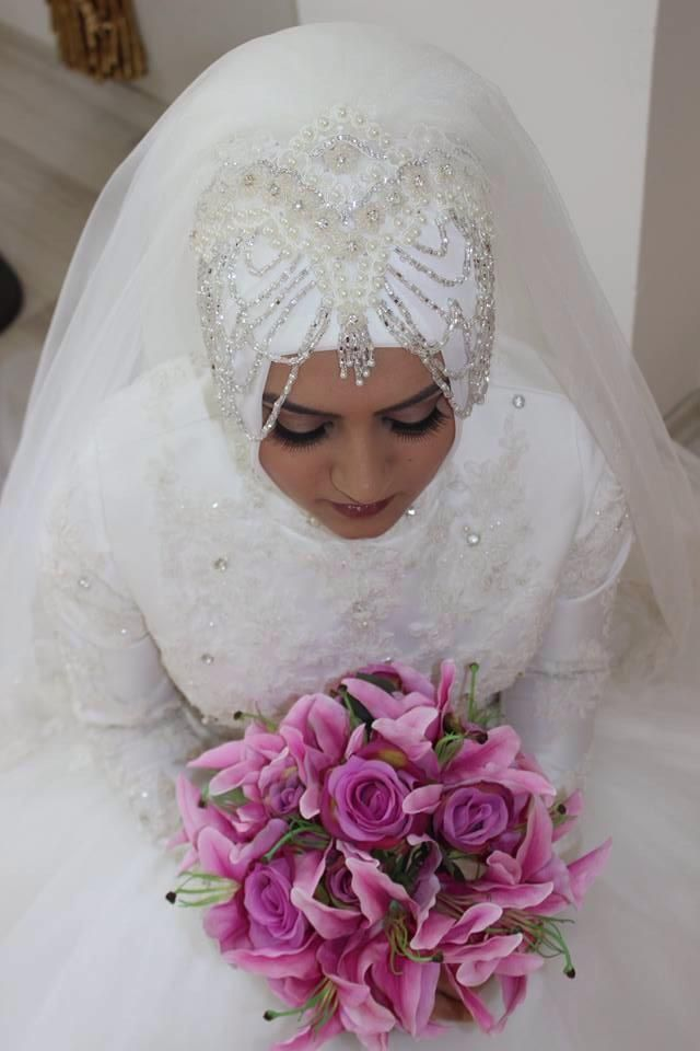 Bridal hijabs -Ready to wear, no pins, one piece hijab -all colors thepurplesharepoint@gmail.com