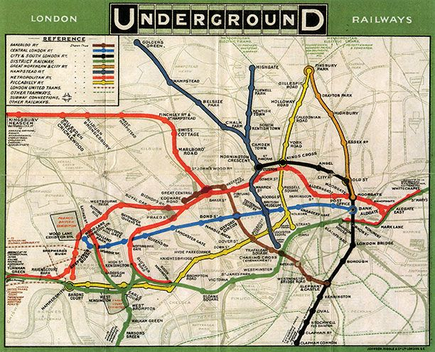 London Underground maps, History Today https://www.historytoday.com/blog/2012/07/london-underground-maps-art-design-and-cartography