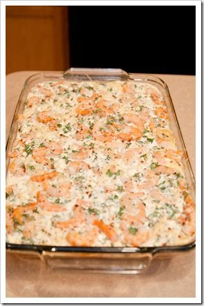 Spicy shrimp and pasta casserole, I can't wait to try this!
