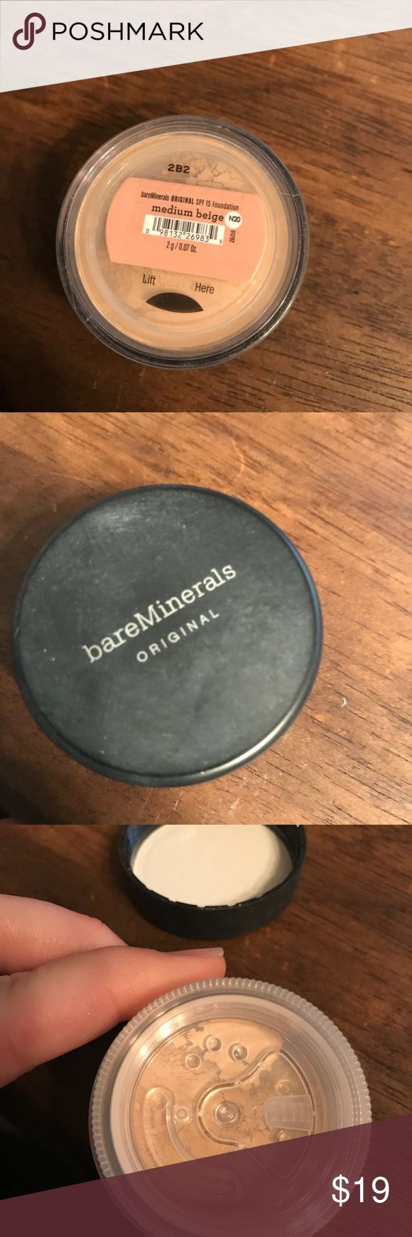 Never used bare minerals medium beige Never used bare minerals powder original foundation in medium beige 0.07 oz Makeup Face Powder