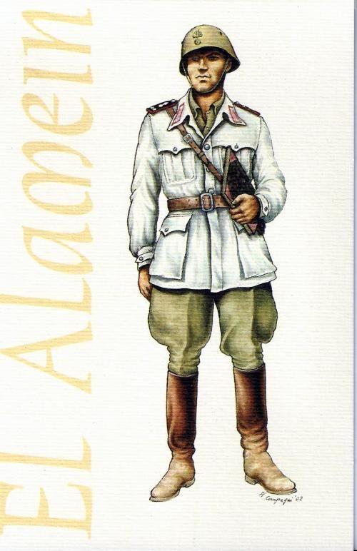 Regio Esercito - Tenente del 1° Reggimento Granatieri di Sardegna, 1942