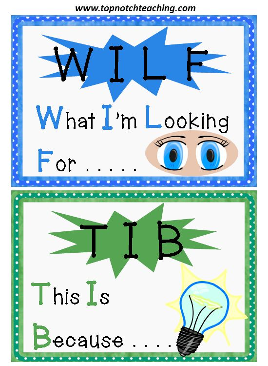 WILF and TIB is a great teaching strategy to use in your class to let your students know what you're looking for in a lesson.