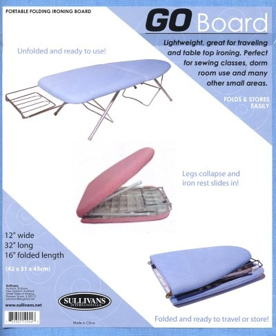 Chubby tabletop ironing board