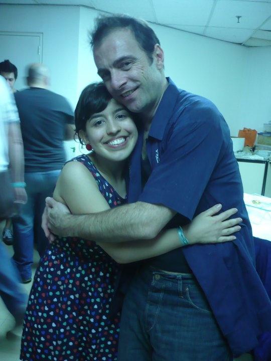 Kevin Johansen and me @ Caracas, Venezuela (July 2011)