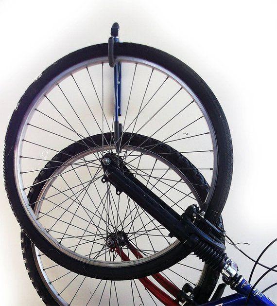2 Bike Bicycle Wall Mounted Hanging Rack Space Saving Storage Basement Garage Soportes Para Bicicletas Ganchos Para Bicicleta Almacenamiento Para Bicicletas
