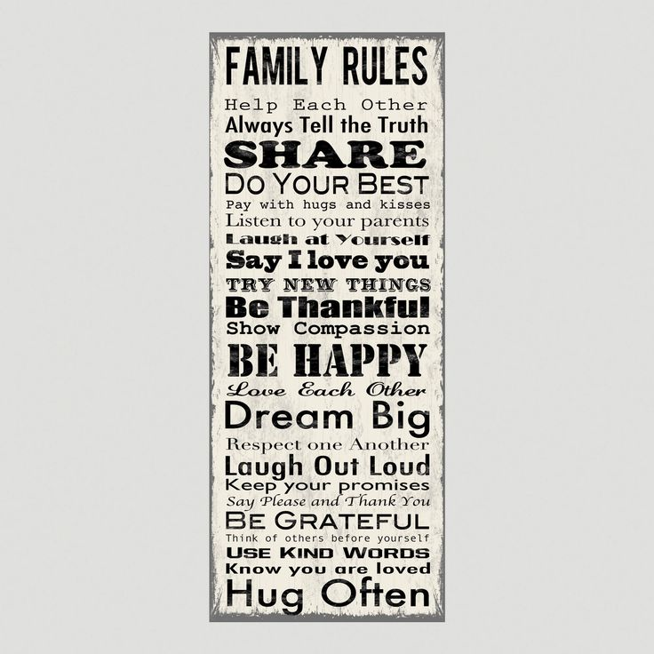 Family Rules Canvas Wall Art Decal  World Market  Homemade Decor  Pinterest  Wall Art Decal, Family Rules and Canv…