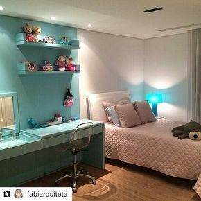 #Repost @fabiarquiteta (@get_repost) ・・・ Quarto menina l Destaque para a penteadeira/escrivaninha verde tiffany, um charme! Projeto Laura Rocha. . #bedroom #bedroomkids #girlroom #girl #tiffany #penteadeira #decoration #decor #arquiteta #oliolilifestyle #homestyling #homestyle #quartodemenina #project #homedecor #insta #instagram #pinterest #decora #inspiration #instago #instagirl #blogfabiarquiteta #fabiarquiteta Reposted Via @arquiendoidei
