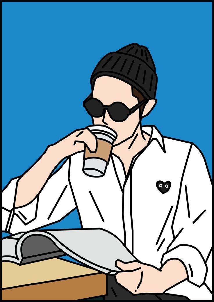 #CAFE #Line #Illust #Artwork