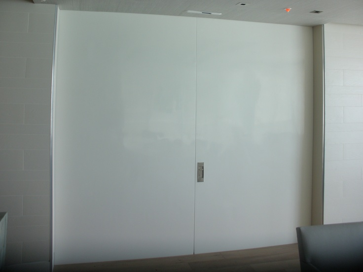 Our sliding fire door in a residential application, showcases the many design options we have to make an aesthetically pleasing door system!  This is our LTH2900, bi-parting fire door.