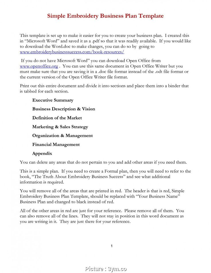 025 Startup Business Planplate Word Free File Simple Best