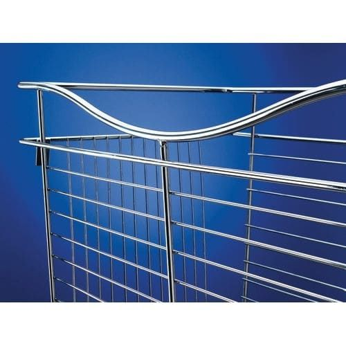 Rev-A-Shelf CB-182007 CB Series 18 x 20 x 7 Inch Wire Pull-Out Closet Basket (Nickel Finish) (Metal)