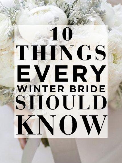 Calling all winter brides!!