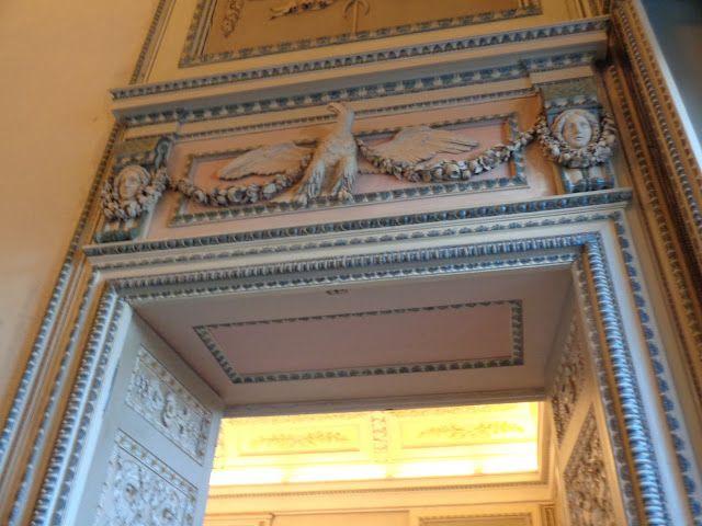 Villa Reale di Monza - Particolare degli infissi lignei decorati con maccatura
