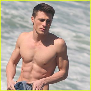 I have no idea who Colton Haynes is, but he is one sexy actor with killer abs.