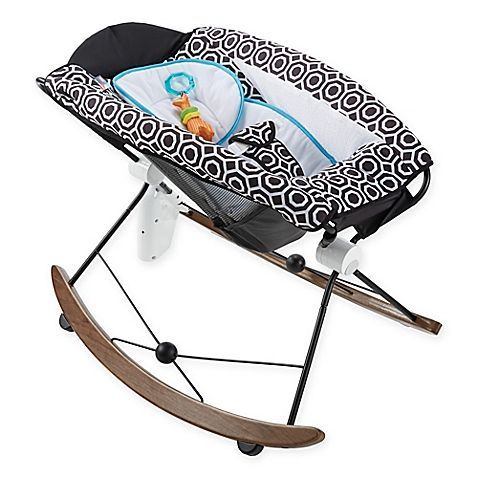Jonathan Adler Crafted by Fisher Price Deluxe Rock 'n Play Sleeper is beautifully designed to connect to your smart phone. It has hand free rocking, music, sounds, and vibrations. It is the ultimate dream machine.