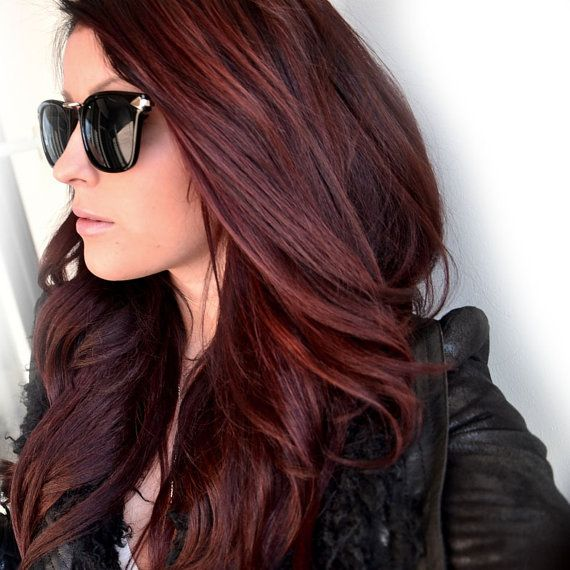 Mahogany Brown Red Ombre Hair Dye BRICK RED HAIR by HairChalkCo