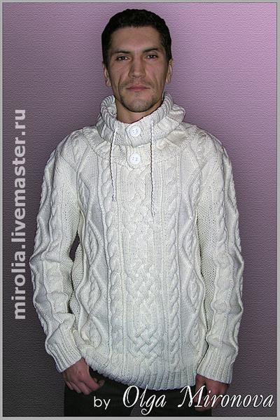 Вязание мужские свитера с ирландски узором