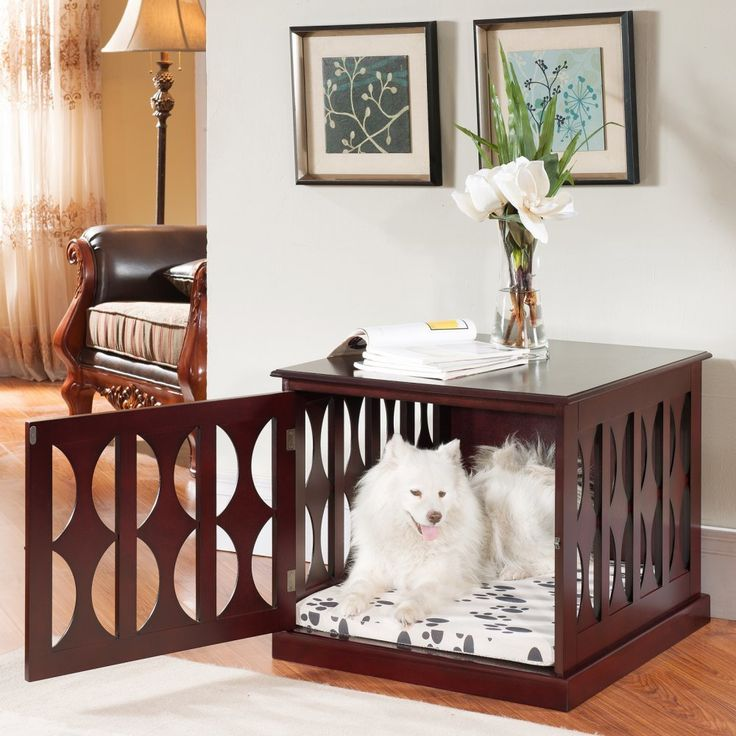 ... Fashions Julia Pet Crate   The Perfect Multi Talent, Meet The Elegant  Home Fashions Julia Pet Crate. This Pet Crate Functions Both As Stylish End  Table ...