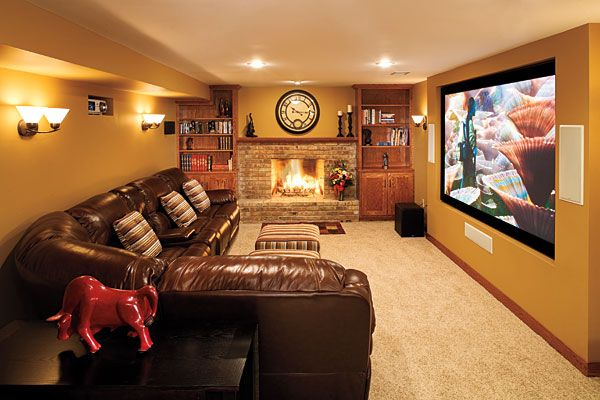 Basement Media Room. Anatomy of an Install: Your Steps To Home Theater Nirvana ~ Exciting stuff! Perfect cold weather home improvement project.
