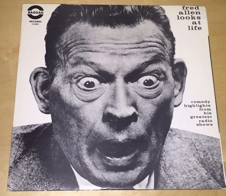 Fred Allen Looks At Life 33 rpm Bagdad 2 Record Set Double LP Comedy Radio Show