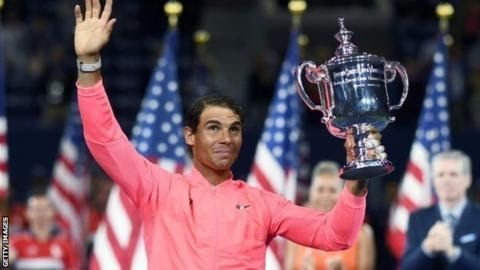 """Nadal's victory brought him his third US Open crown and 16th Grand Slam title  Rafael  Nadal put his remarkable resurgence down to his """"love for the game""""  after claiming a 16th Grand Slam title at the US Open.  The 31-year-old Spaniard beat South Africa's Kevin Anderson 6-3 6-3 6-4 to win his third title in New York. Following his French Open success in June it is the first time since 2013 that Nadal has won two Slams in a year. """"I wake up every morning with the passion to go on court and…"""