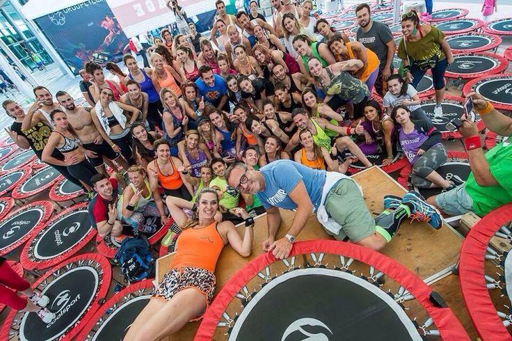 Fiera di Rimini con Jill Cooper (c'eravamo anche noi..) #super #jump #corso #divertente #da settembre #palestra #easy #life #fitness #carate #brianza