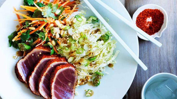 Seared tuna salad with sesame dressing