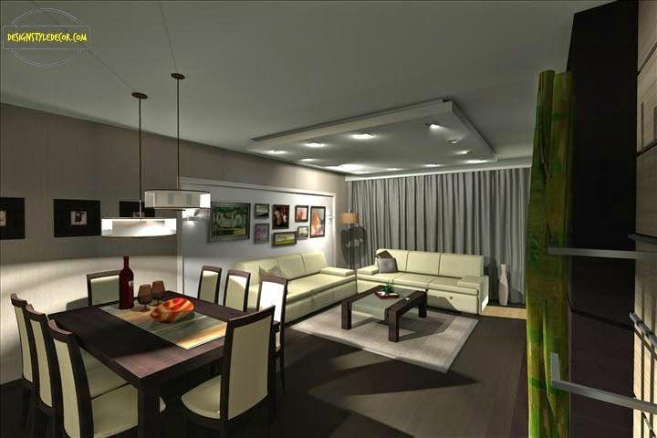 living/dining design