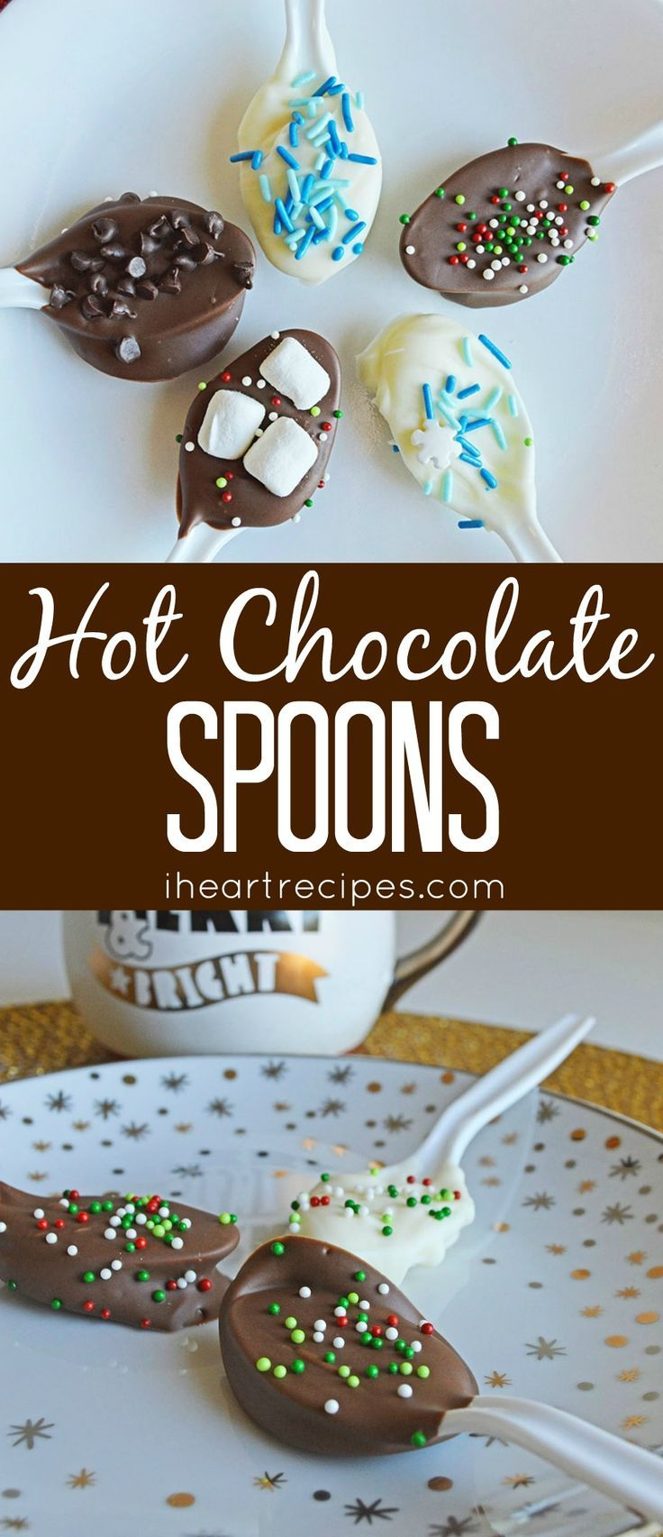 Easy hot chocolate spoons that makes the perfect cup of hot chocolate every darn time! Planning a hot chocolate bar? I have the perfect idea for you. Instead of pulling out all of the hot cocoa mix, marshmallows, sprinkles, and etc - Why not just make hot chocolate spoons? It's easy & fun to make. PLUS they make the perfect cup of hot chocolate every time. You just need a few ingredients & supplies to make these delicious hot chocolate spoons, so let's get started! Share &...