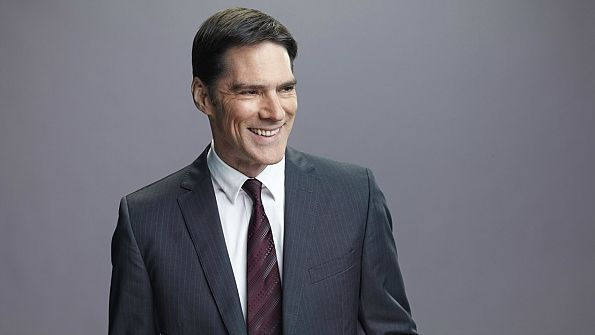 SSA Aaron Hotchner can smile! - Criminal Minds - CBS.com  Though this BAU chief is known for keeping a very straight face, there have been a handful of times when he has dropped his poker facade. Let's take a look back at some of the moments in which SSA Aaron Hotchner has shown his pearly whites!