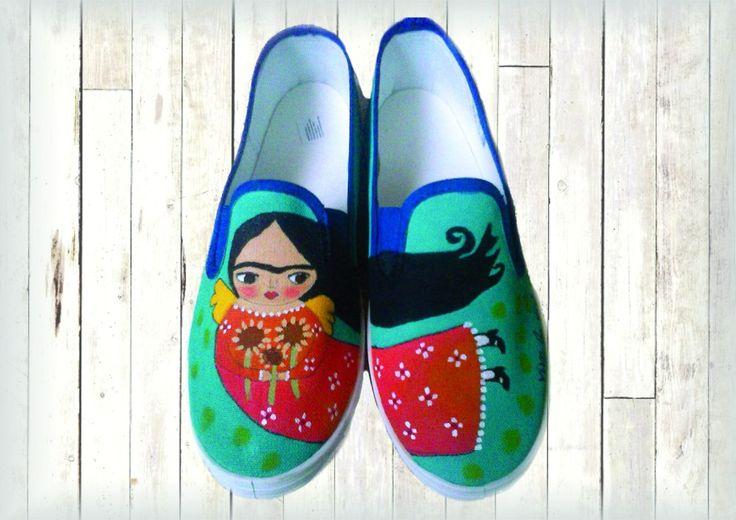 zapatillas pintadas a mano personalizadas