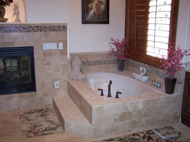 Master Bath Includes Fireplace Jetted Tub 2 Separate Wash Basin