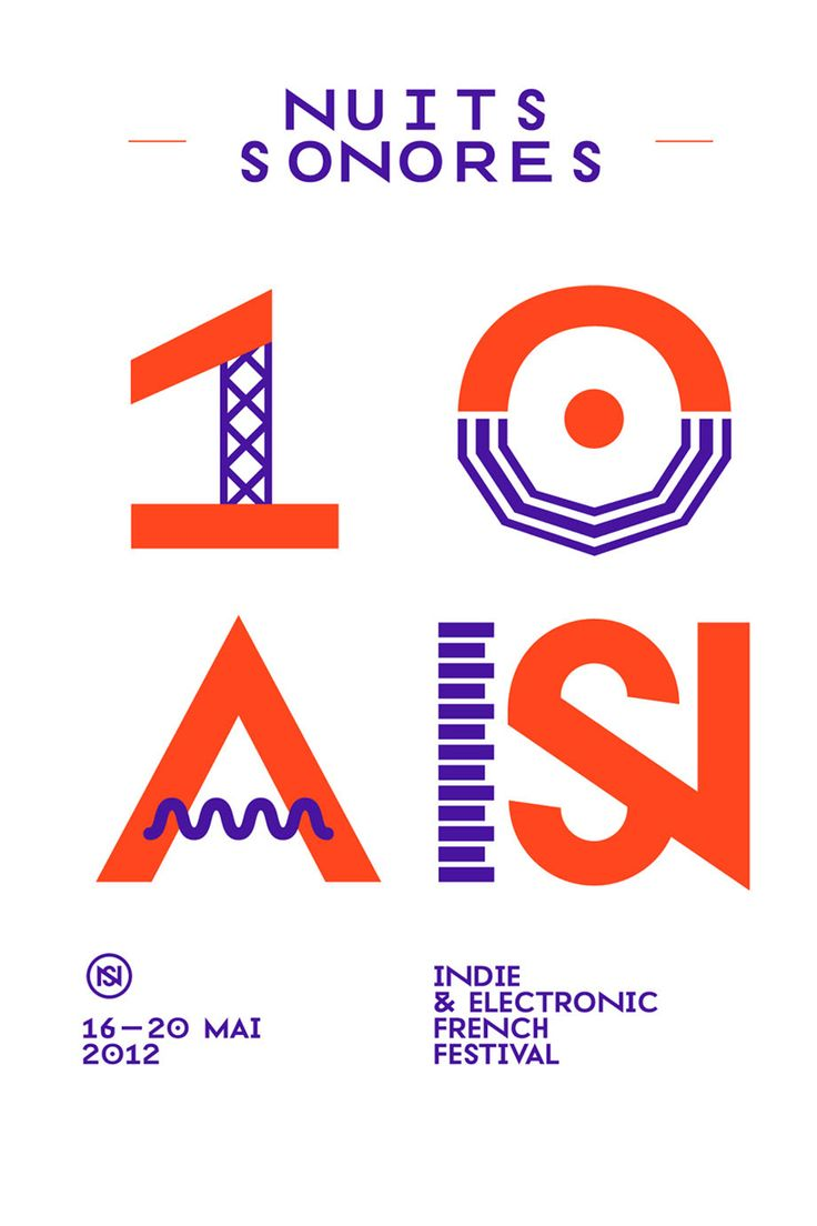 superscript: nuits sonores 2012 visual identity.
