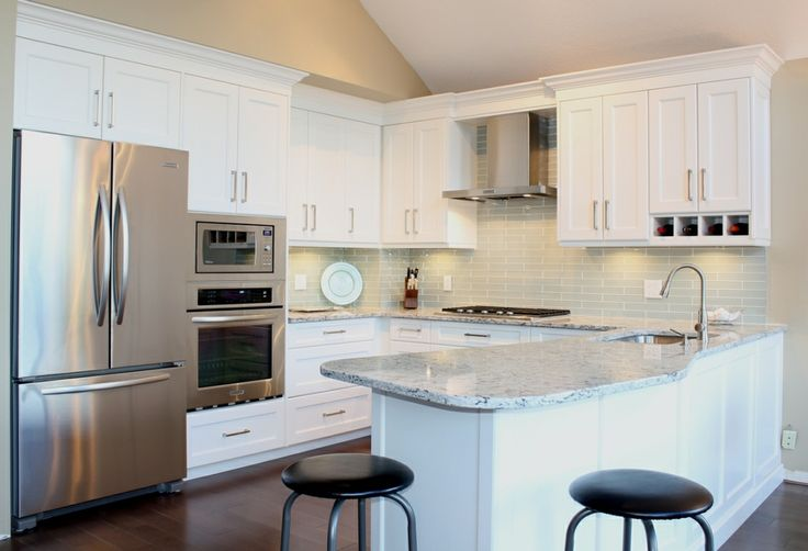 North Vancouver Townhouse Remodel Custom Built Cabinetry Shaker Style Painted Maple Doors