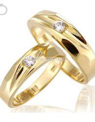Cincin Kawin Emas Kuning 75% (18K) + Perak 925 - GD31091 cincin muslim