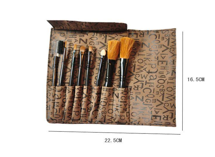 Ежедневно ну вечеринку макияж кисти 8 комплект портативный косметические кисти инструменты тональный крем тени для век румяна кисти составляют предметы первой необходимости