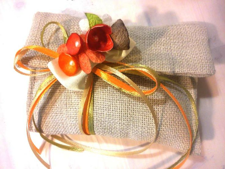 Baptism bonboniere handmade from silk cocoons simply particularly fashionable 2