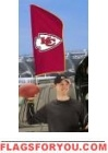 "Chiefs Tailgate Flag 42"" x 20"""